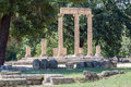 Tholos olympia greece the circular temple ruins with corinthian columns in archaeological site peloponnese Stock Photography