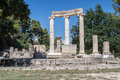 Tholos olympia greece the circular temple ruins with ionic columns in archaeological site peloponnese Stock Photography