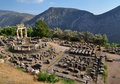 The Tholos at the sanctuary of Athena Pronaia Stock Photos