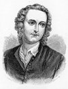 Thomas gray december – july english poet letter writer classical scholar and professor at cambridge university engraving from Royalty Free Stock Images