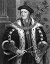 Thomas howard rd duke of norfolk on engraving from tudor politician engraved by e scriven and published in portraits Stock Photography