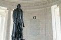 Thomas Jefferson Memorial Statue Royalty Free Stock Photo