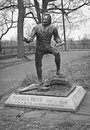 Thomas paine statue bw Fotografie Stock