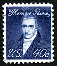 Thomas Paine US Postage Stamp Royalty Free Stock Photo