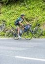 Thomas Voeckler on Col du Tourmalet - Tour de France 2015 Royalty Free Stock Photo