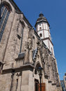 Thomaskirche leipzig st thomas church in germany where johann sebastian bach worked as a kapellmeister and the current location of Royalty Free Stock Photos