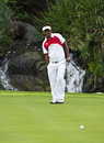 Thongchai jaidee ngc putting on the th green nedbank golf challenge december gary player golf course sun city south africa Royalty Free Stock Photo
