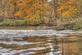 Thornapple river in alaska michigan fall scene on the at a park kent county mi Stock Photo