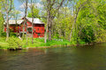 Thornapple river in barry county barn on the near mckeown road bridge michigan Stock Image
