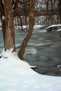 Thornapple river at a park in kent county mi Stock Photo