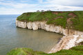 Thornwick bucht flamborough Stockbild