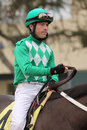 Thoroughbred Jockey Tyler Baze Royalty Free Stock Photography