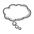 Thought bubble. Vintage engraving Royalty Free Stock Photo