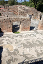 It is thought ostia antica at the mouth of the river tiber was founded in about bc as one of the very first roman colonies to the Royalty Free Stock Images