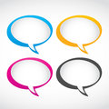 Thought and speech bubbles set Royalty Free Stock Photo