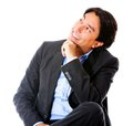 Thoughtful businessman Royalty Free Stock Photos