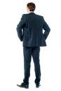 Thoughtful businessman, Rear view image Royalty Free Stock Photo