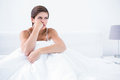 Thoughtful furious woman Royalty Free Stock Photo