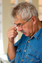 Thoughtful senior man Royalty Free Stock Photo