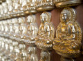 Thousand Buddha Statues Royalty Free Stock Photos