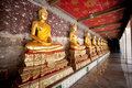 A thousand Buddhas, Bangkok Royalty Free Stock Image