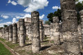 Thousand columns chichen itza group mexico Royalty Free Stock Photography