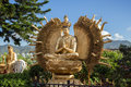 Thousand hands Buddha statue at the Ten Thousand Buddhas Monastery Royalty Free Stock Photo