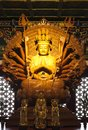 Thousand hands golden Buddha Royalty Free Stock Photos