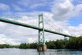 The thousand islands bridge canada view from under of ontario lake Royalty Free Stock Photos