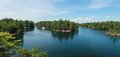 Thousand islands view of thousands island in ontario canada Stock Photo