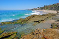 Thousand steps beach south laguna beach california view of a beautiful and tide pool in called the because the public Royalty Free Stock Photo