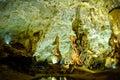 Thousand years limestone cave in phong nha ke bang national park in vietnam Royalty Free Stock Image