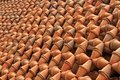 Thousands of Baked Clay Pots lining up as a garden Royalty Free Stock Photos