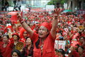 Thousands of red shirts protest in bangkok around shirt protesters gather at a rally the city centre on may thailand the Stock Photography