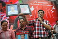 Thousands of red shirts protest in bangkok relatives shirt protesters killed during the military s crackdown on anti government Royalty Free Stock Photography