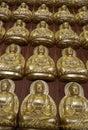 Thousands of small Buddha images in Meun Buddhasukkhavadi Hall