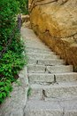 Thousands steps at huashan mountain built the cliff of china Stock Image
