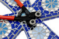Thre mosaic craft tile nipper for mosaics Royalty Free Stock Photo