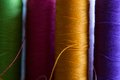 Thread colorful in a row Royalty Free Stock Photos