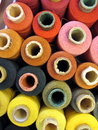Thread spool various color cotton Stock Images