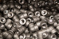 Threaded fittings carbon steel curves Royalty Free Stock Photos
