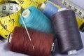 Threads with needle Stock Photos