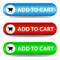 Three ' add to cart ' banners Royalty Free Stock Photo