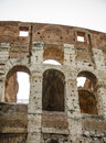 Three arches in coliseum rome italy Stock Photos