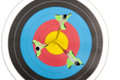 Three arrows in archery target Royalty Free Stock Photo