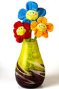 Three of artificial flowers Royalty Free Stock Photo