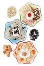 Three assorted flavors of ice cream Stock Image