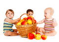 Three babies Stock Image