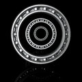 Three ball bearings with reflection on a black background Royalty Free Stock Photography