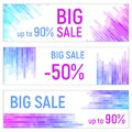 Three banners, Colorful abstract geometric business background